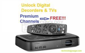 unlock digital TVs and decoders