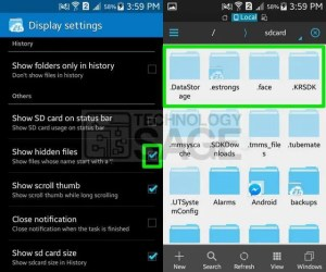 find hidden data and apps on Android