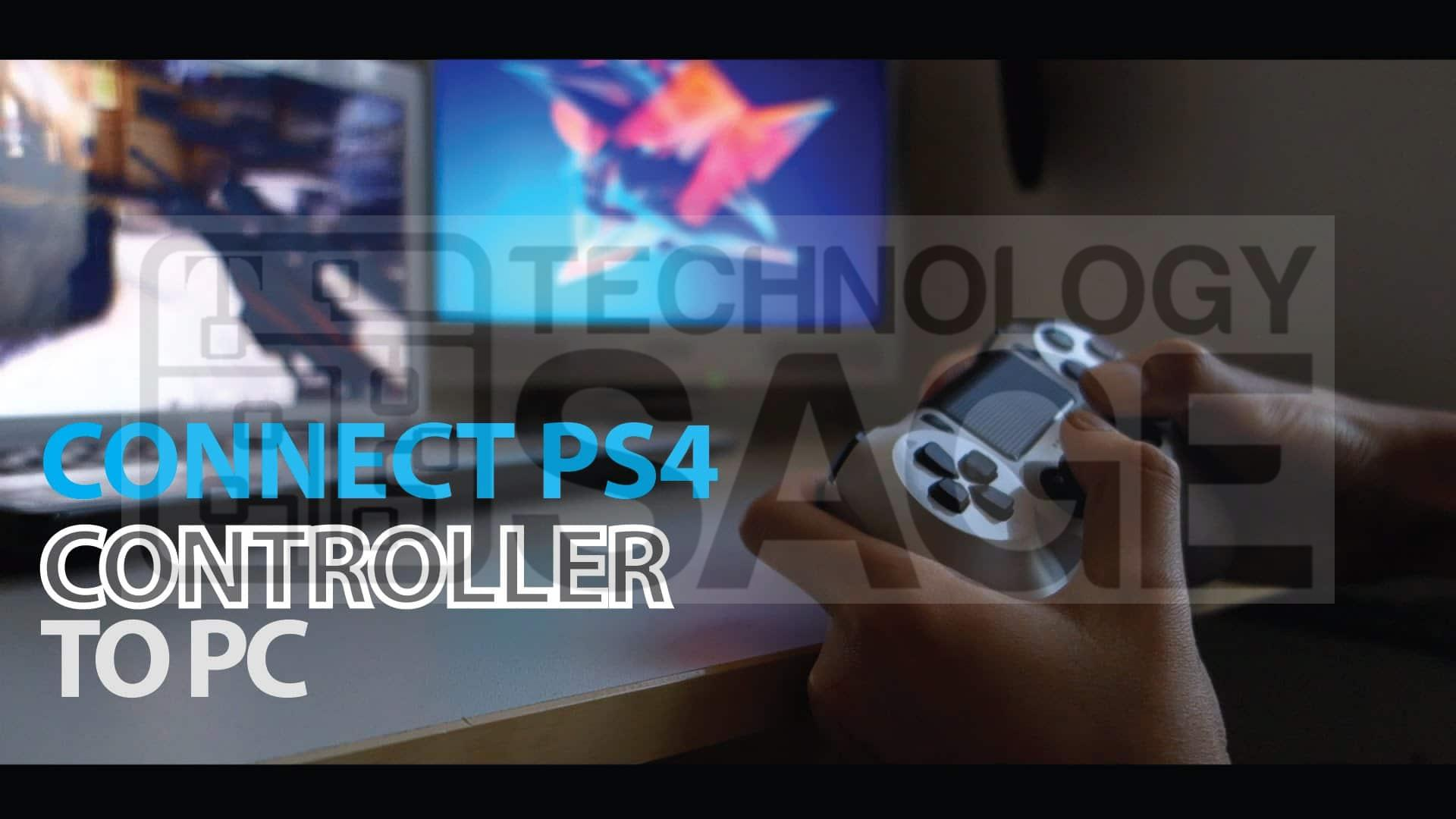 How to connect PS4 controller to PC or Laptop computer