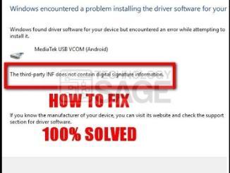 Fix driver signature problem