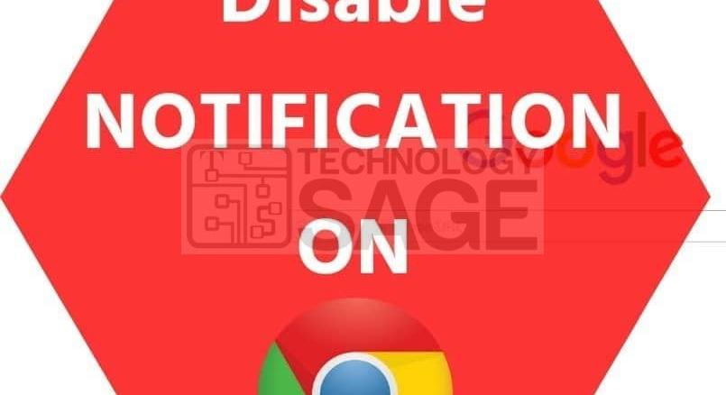 Turn off notifications from Google Chrome