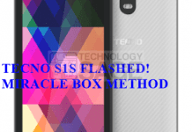 Tecno S1S flashed with Miracle Box