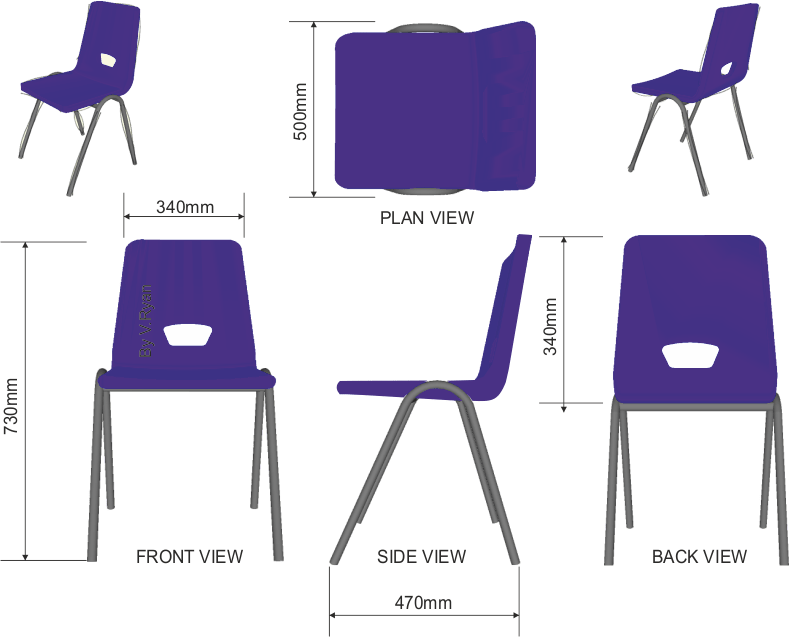 REVISION CARDS  ROBIN DAY  POLYPROP CHAIR