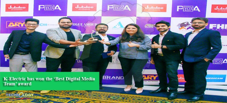 K-Electric has won the 'Best Digital Media Team' award