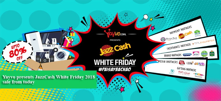 Yayvo presents JazzCash White Friday 2018 sale from today