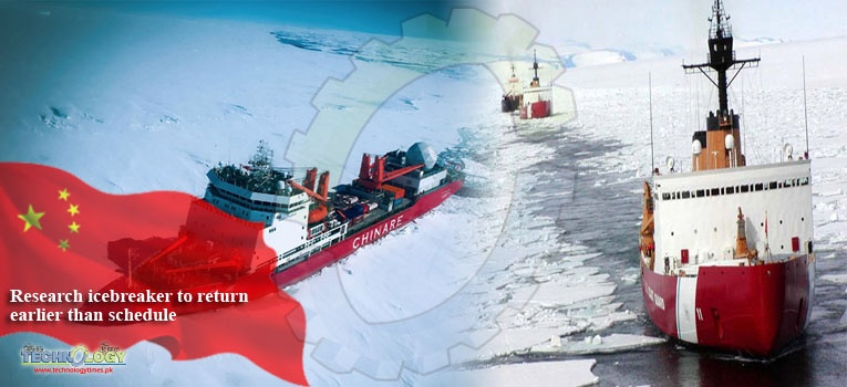 Research icebreaker to return earlier than schedule