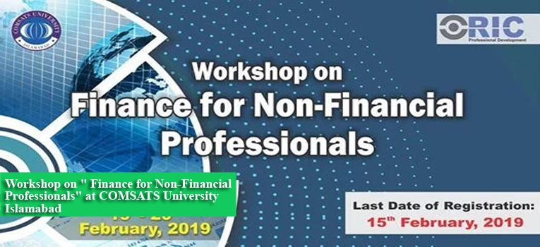 "Workshop on "" Finance for Non-Financial Professionals"" at COMSATS University Islamabad"