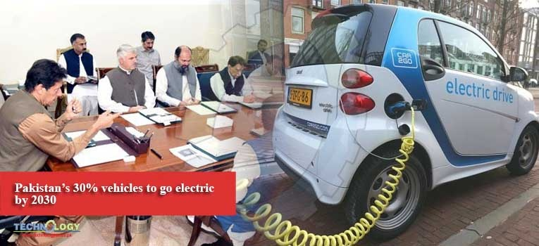 Pakistan's 30% vehicles to go electric by 2030