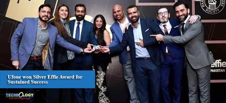 Ufone won Silver Effie Award for Sustained Success