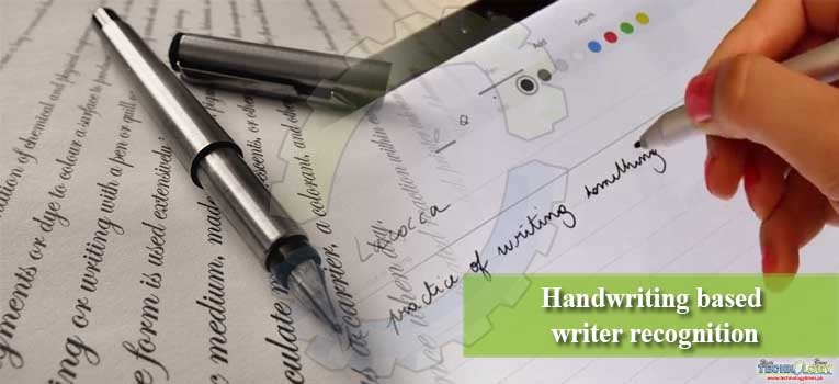 Handwriting based writer recognition
