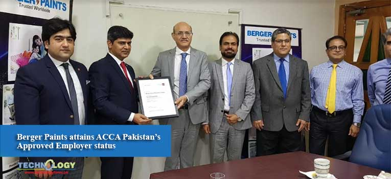 Berger Paints attains ACCA Pakistan's Approved Employer status