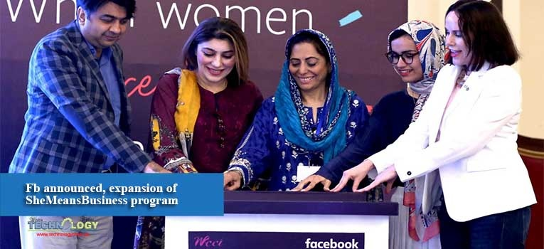 Fb announced, expansion of SheMeansBusiness program