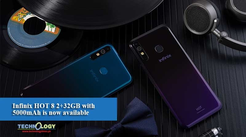 Infinix HOT 8 2+32GB with 5000mAh is now available