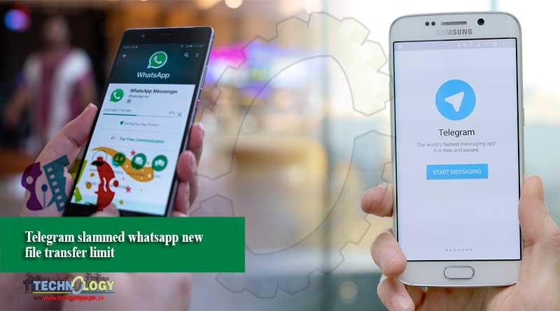 Telegram slammed whatsapp new file transfer limit