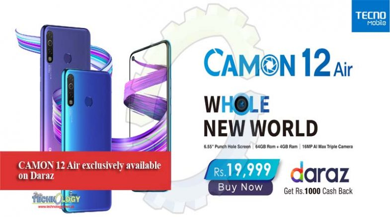 CAMON 12 Air exclusively available on Daraz