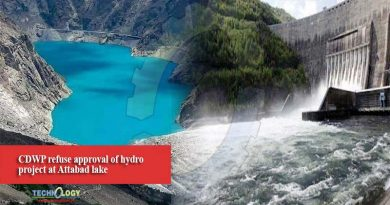 CDWP refuse approval of hydro project at Attabad lake