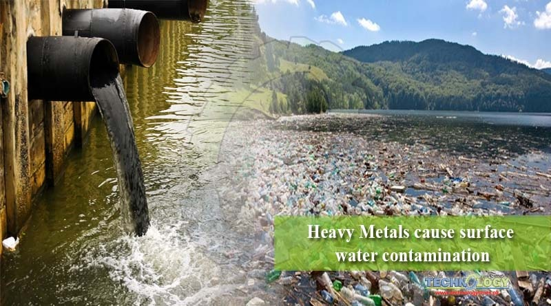 Heavy Metals cause surface water contamination