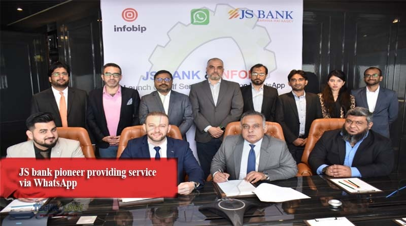JS bank pioneer providing service via WhatsApp