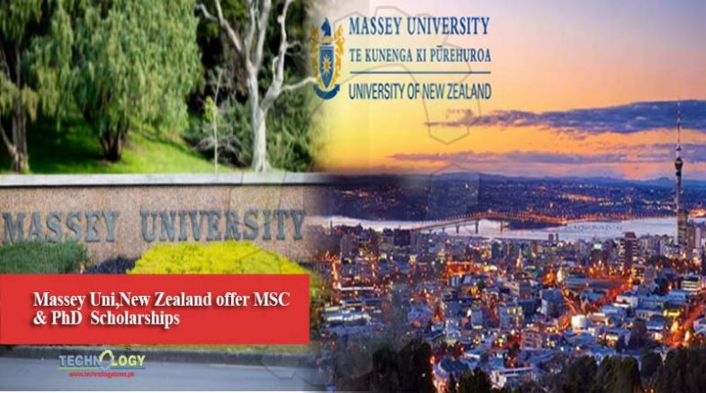 Massey Uni,New Zealand offer MSC & PhD Scholarships