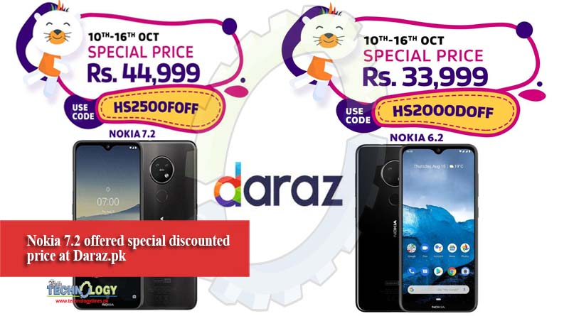 Nokia 7.2 offered special discounted price at Daraz.pk