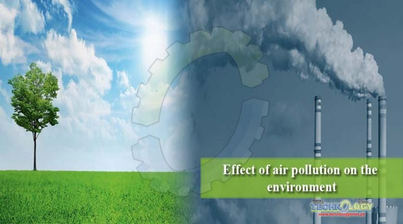 Effect of air pollution on the environment