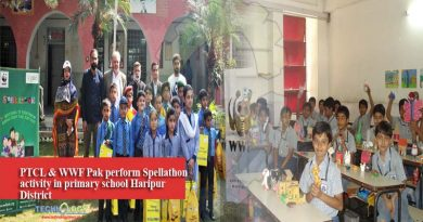 PTCL & WWF Pak perform Spellathon activity in primary school Haripur District