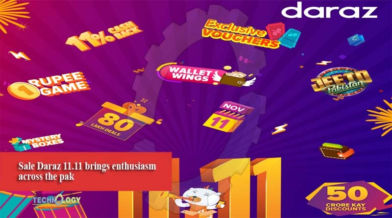 Sale Daraz 11.11 brings enthusiasm across the pak