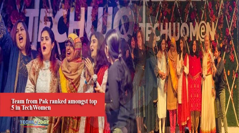 Team from Pak ranked amongst top 5 in TechWomen