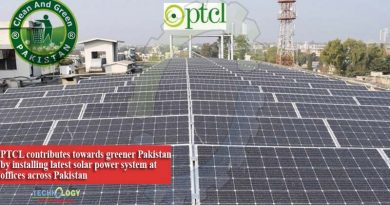 PTCL contributes towards greener Pakistan by installing latest solar power system at offices across Pakistan