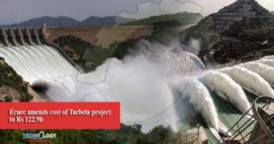 Ecnec amends cost of Tarbela project to Rs 122.9b