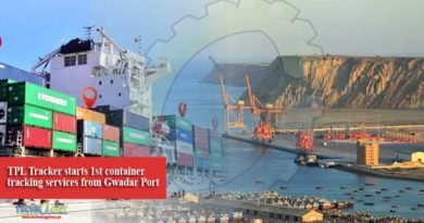 TPL Tracker starts 1st container tracking services from Gwadar Port