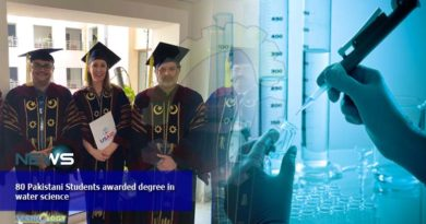 80 Pakistani Students awarded degree in water science