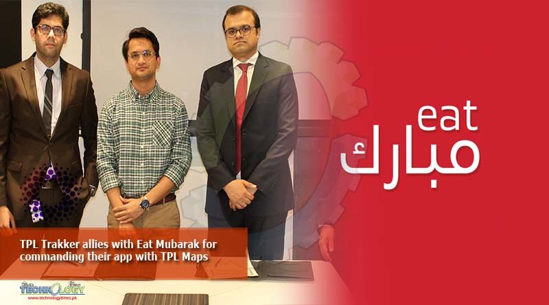 TPL Trakker allies with Eat Mubarak for commanding their app with TPL Maps