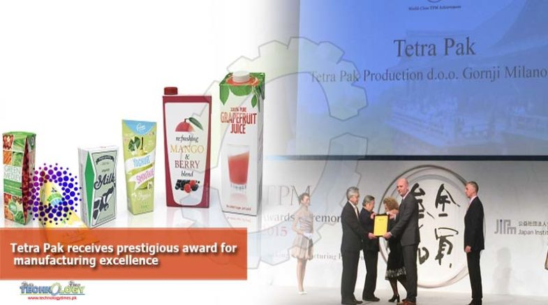 Tetra Pak receives prestigious award for manufacturing excellence