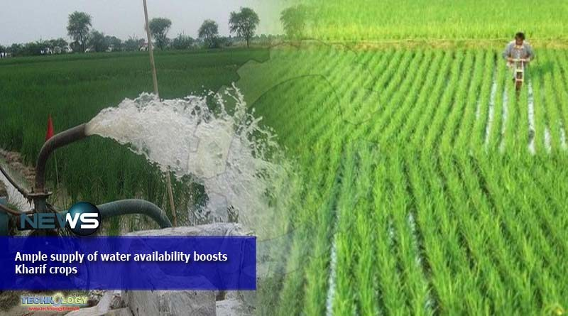 Ample supply of water availability boosts Kharif crops