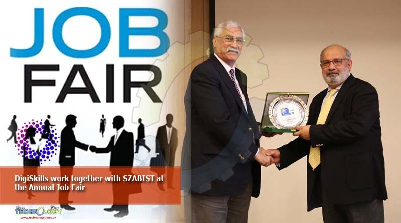 DigiSkills work together with SZABIST at the Annual Job Fair
