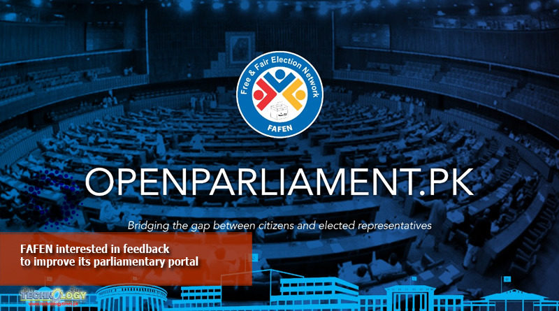 FAFEN interested in feedback to improve its parliamentary portal