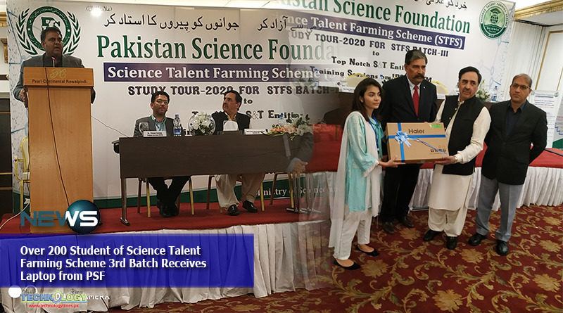 Over 200 Student of Science Talent Farming Scheme 3rd Batch Receives Laptop from PSF