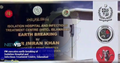 PM executes earth-breaking of Isolation Hospital and Infectious Treatment Centre at Islamabad