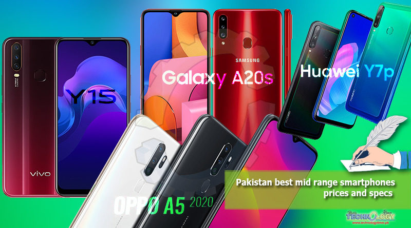 Pakistan best mid range smartphones - prices and specs