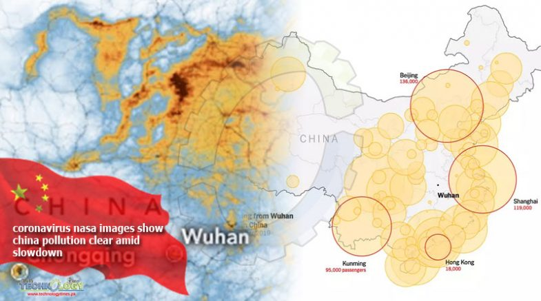 Coronavirus Nasa images show China pollution clear amid slowdown -