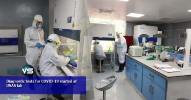 Diagnostic tests for COVID-19 started at UVAS lab