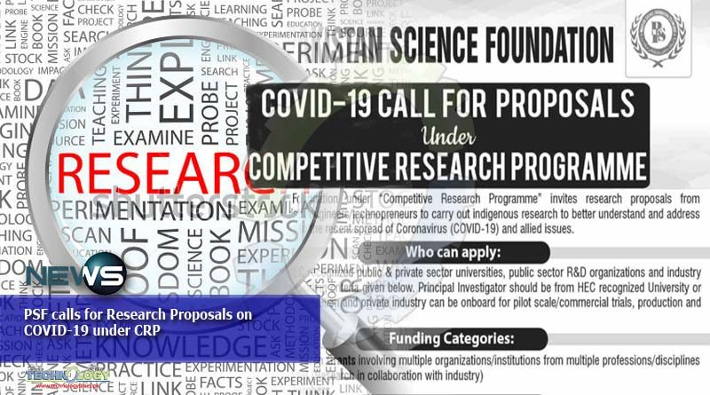PSF calls for Research Proposals on COVID-19 under CRP