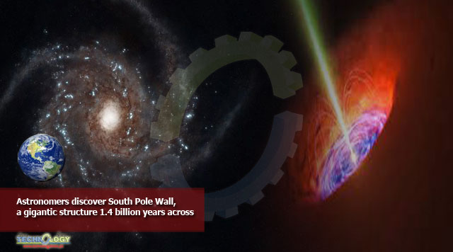 Astronomers discover South Pole Wall, a gigantic structure 1.4 billion years across