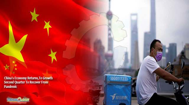 China's Economy Returns,To Growth Second Quarter To Recover From Pandemic