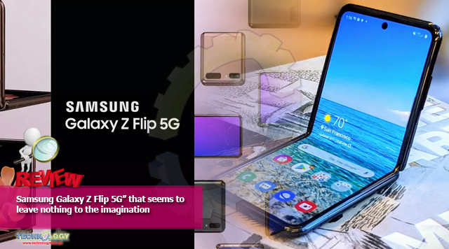 "Samsung Galaxy Z Flip 5G"" that seems to leave nothing to the imagination"