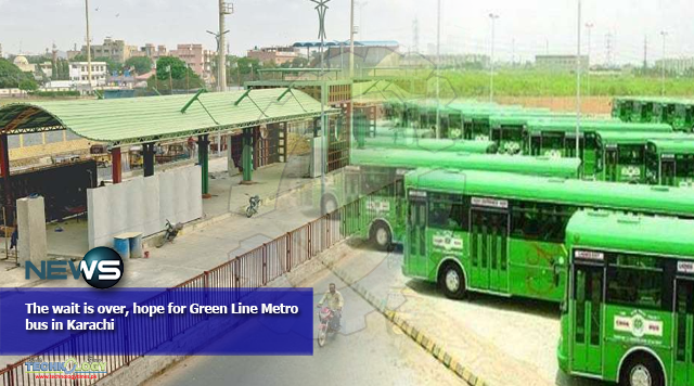 The wait is over, hope for Green Line Metro bus in Karachi