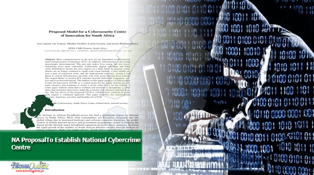 NA ProposalTo Establish National Cybercrime Centre