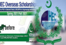 HEC announces Overseas Scholarships