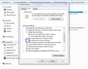 Customize folder options and Use Windows OS Comfortably